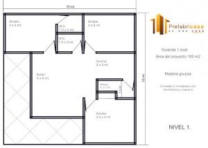 Casa Prefabricada 100 mts 2