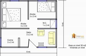 Casa Prefabricada 30 Mts2