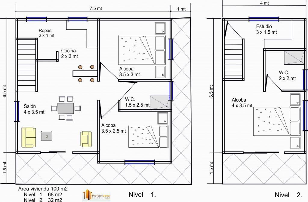 Precio de construir casa plan procrear aprox 75m2 dise 241 for Precio construir casa 120 metros