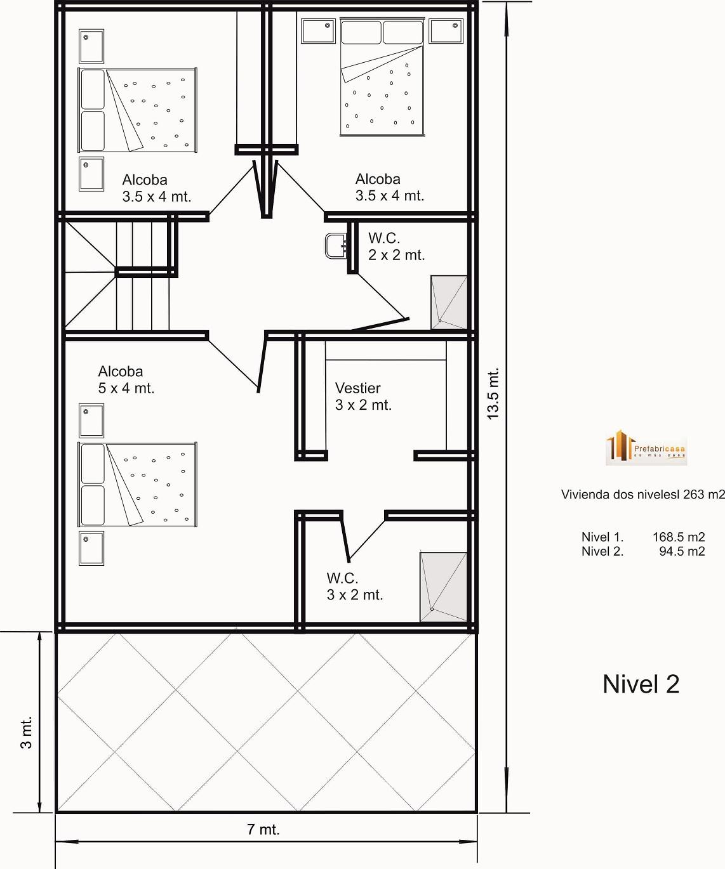 diseño de casas prefabricadas 263 mts 2 - casas prefabricadas
