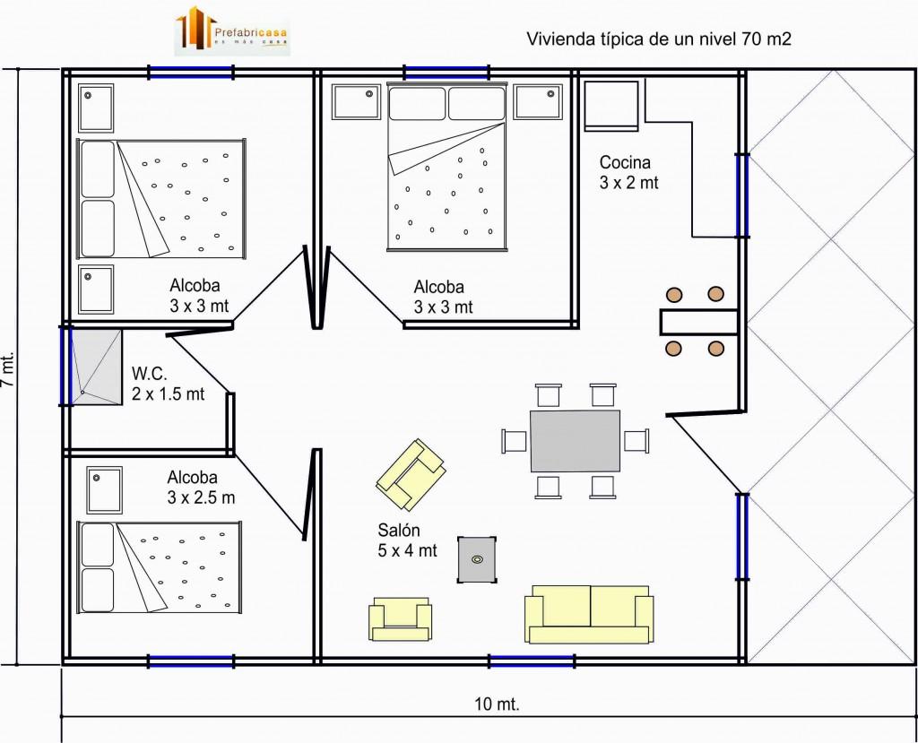 Diseno de casas 70m2