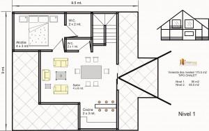 Casas Prefabricadas bogota 175.5 M2  CHALET