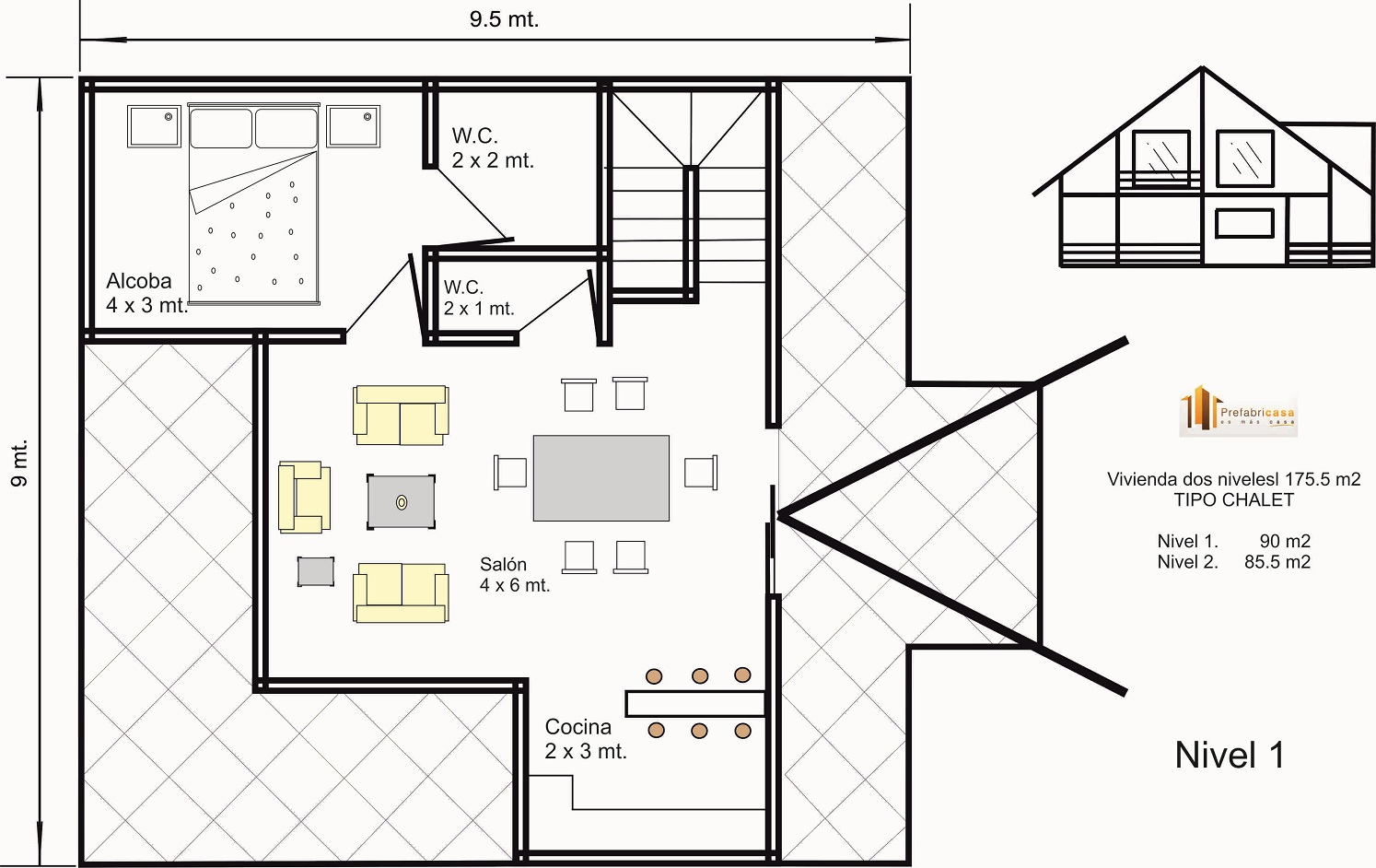 planos de casas tipo chalet